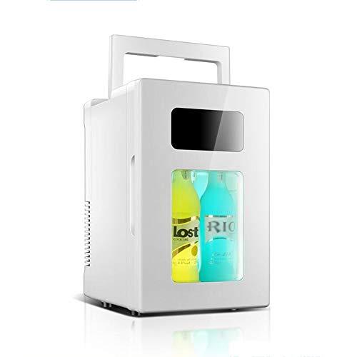 L&K Mini Refrigerador Portátil Compacto Enfría Y Calienta, Capacidad De 10 Litros, Incluye Enchufes Para Toma De Corriente De 220V Dc Y Cargador De Coche De 12V Ca, Para El Hogar, Oficina, Coche, Dormitor
