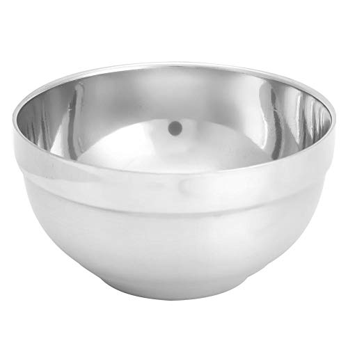 TOPINCN Edelstahl Rührschüssel Isolierung Anti-Scald Kinder Reisschüsseln Heavy Duty Backen Kochschüsseln (L)