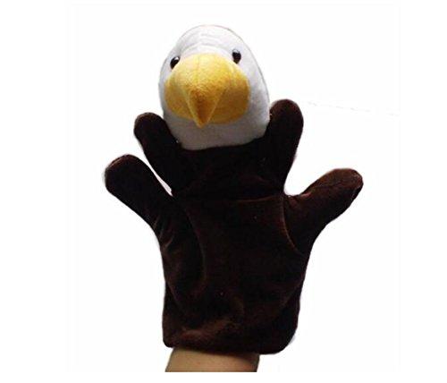 Udane Soft Puppe Puppen Spielzeug Afrikanischer Dschungel Tierpuppe Plüsch Handpuppe Spielzeug (Adler)