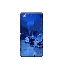Ebby Premium Printed 3D Designer Back Case Cover For Sony Xperia M5 (Premium Designer Cae)