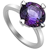 Silvancé - Women's Ring - 925 Sterling Silver - Genuine Amethyst - QR1204A
