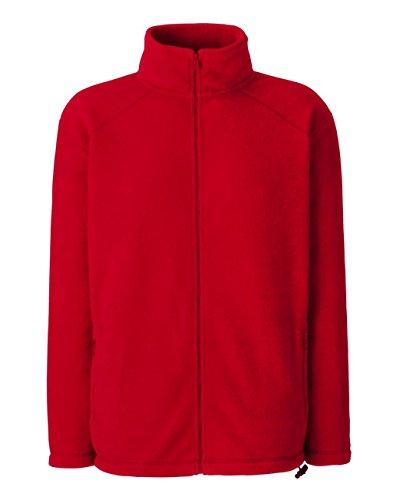 Fruit of the Loom Herren Sweatshirt Outdoor Full Zip Fleece Red