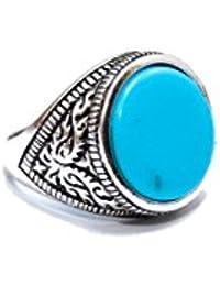 Radha Govind Women's Oxidized Metal Ring-blue Stone Ring
