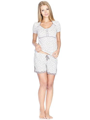 Vive Maria Dreamy Day Short White Allover, Ensemble de Pyjama Femme Weiß (white allover)