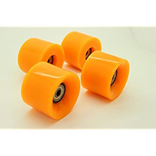 AJK Penny Style Smooth Skateboard Wheels 59mm 78a,with Bearing Retro Style Perfect For Plastic Cruiser (Orange)