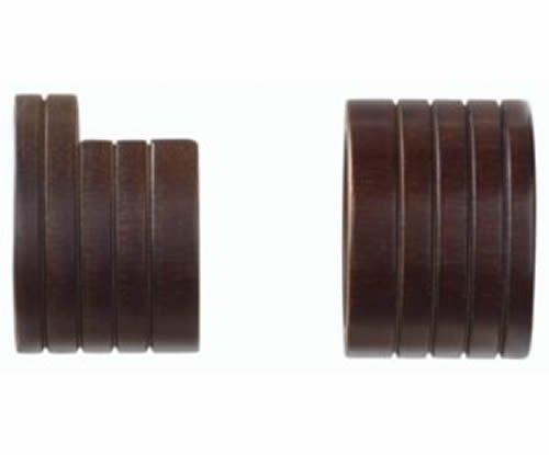 kirsch Wood tendances Classics à l'intérieur Plat prises pour 1 3/20,3 cm Tube, café