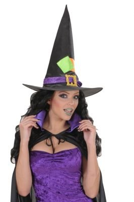 Satin and Velvet Witch s Child Size Halloween Hats Caps and Headwear for Fancy Dress Costumes (Hexer Ideen Kostüm)