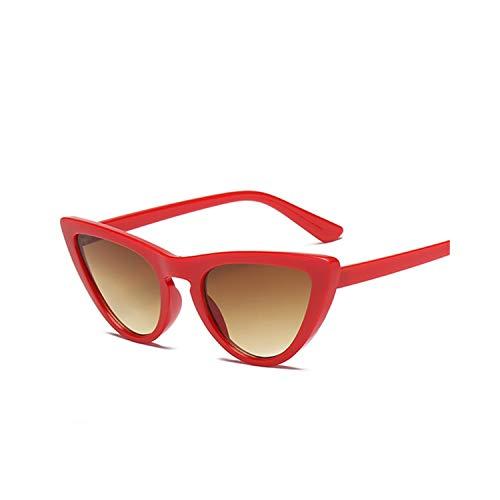 Sportbrillen, Angeln Golfbrille,Women Cat Eye Vintage Sunglasses Black White Brand Designer Sexy Sun Glasses Shades For Women UV400 RedBrown