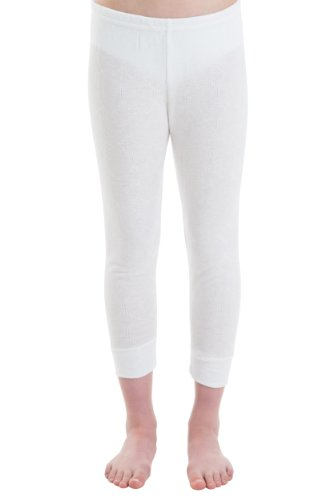Pack-of-2-Girls-Thermal-Underwear-Long-Pants-White