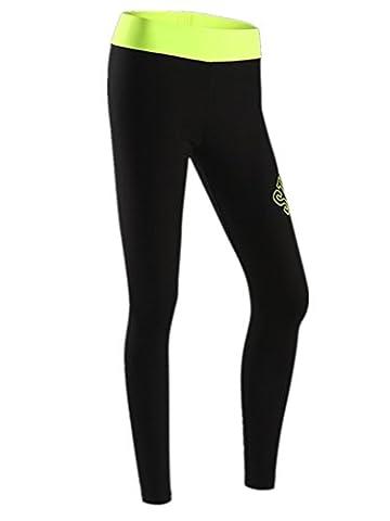 YeeHoo Leggings de compression sportive Stretch pour femme Pantalons amaigrissants Fitness Yoga