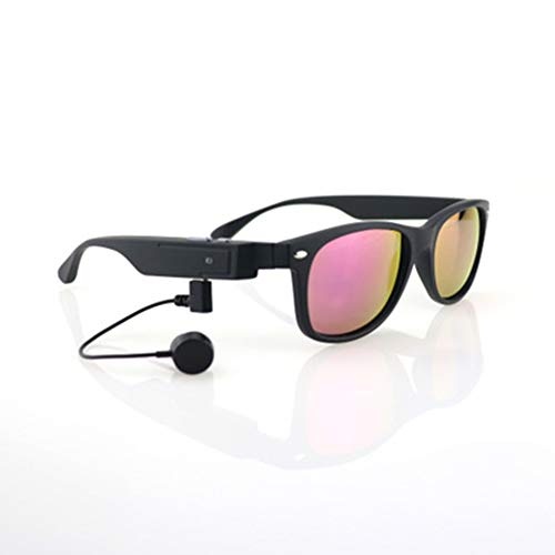 JYL Smart Bluetooth Call Glasses, drahtlose Bluetooth-Sonnenbrille, austauschbare Linsenkopfhörer Outdoor-Sonnenbrille Unterstützung für Android/iOS,D