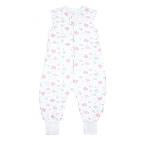 TupTam Baby Unisex Winter Schlafsack mit Beinen, Farbe: Wolken Grau/Rosa, Größe: 80-86