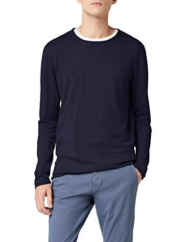 SELECTED HOMME Herren Regular Fit Pullover SHDDOME Crew Neck NOOS, Einfarbig, Gr. Medium, Blau (Navy Blazer)