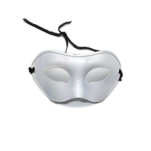 Maskerade,Männer halbes Gesicht bemalte Lackmaske Gentleman Jazz Performance Performance Maske Maske weiß Masquerade (Männer Bemalte Gesichter Für Für Halloween)