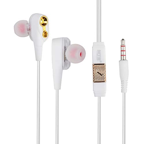MTR Boogie Woogie Deep Bass Stereo Wired Headset with Mic for All Smartphones  White