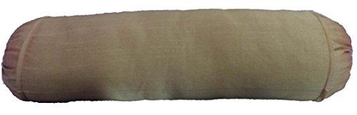 "Safran 20,3cm Diamètre rond massage yoga amovible longue de traversin, Tissu, beige, 8""x20"""