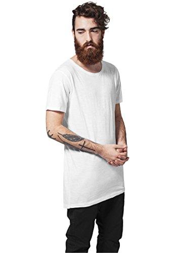 Urban Classics TB1094 Long Back Shaped Slub Tee T-Shirt Shirt Herren White