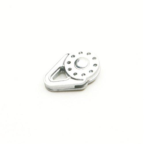 1pc Silber 1:10 Winde Snatch Block Pulley for 1/10 RC Crawler Model Car Zubehör