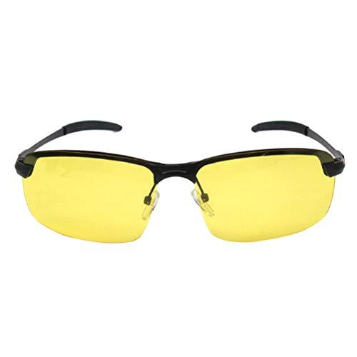 BESPORTBLE HD Nachtfahrbrille Polarisierte Sonnenbrille Nachtsichtbrille für Männer Frauen (Gelb)