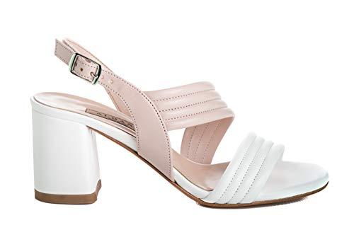 ALBANO Scarpe Sandalo Donna 2088 Soft Bianco-Cipria