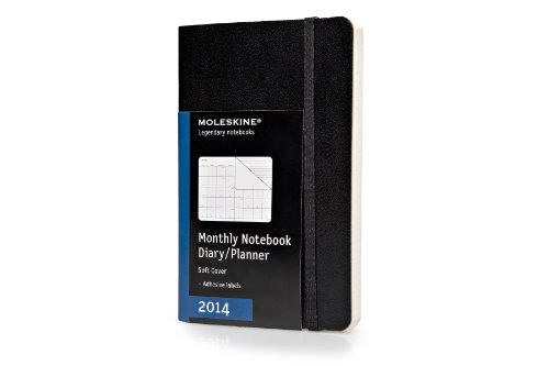 Moleskine Pocket Size Soft 12 Months 2014 Monthly Notebook por Moleskine