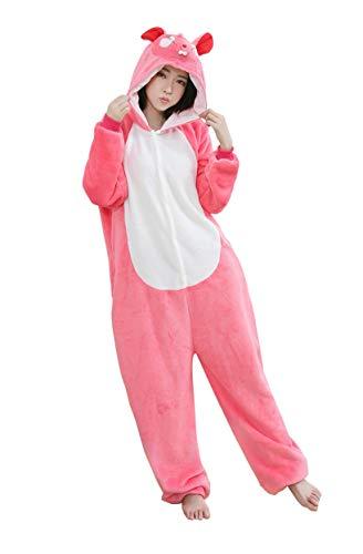Männlich Kostüm Abba - URVIP Neu Unisex Adult Pyjama Cosplay Tier Onesie Body Nachtwäsche Kleid Overall Animal Sleepwear Schlafanzug mit Kapuze Erwachsene Cosplay Kostüm Wassermelone-Maus XL
