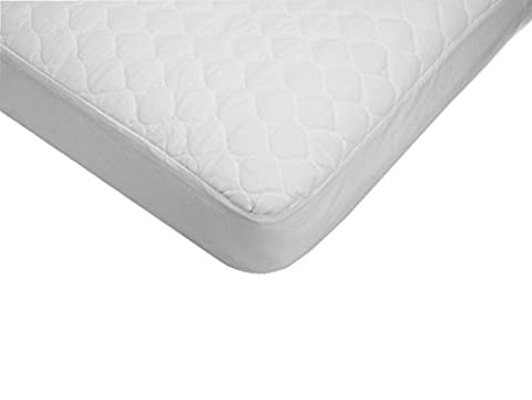American Baby Company Extra Durable Waterproof Quilted Cotton Crib Mattress Pad Cover, White, 28 X 52 X 9