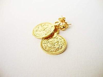 Boucles d'oreilles médaille antique Byzance