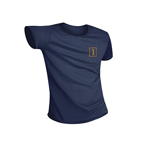 Irypulse Hydrophobe Antifouling T-Shirt für Männer & Frauen, Unisex Rundhalsausschnitt Wasserdichtes Sport Kurzarm T Shirt, Schnelltrocknung, Feuchtigkeitstransport und Atmungsaktiv - Dunkelblau 3XL -