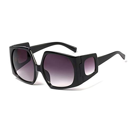 SYQA Neue Polygon Sonnenbrille Frauen übergroße schwarz grün orange uv400 männliche Sonnenbrille Vintage weibliche Sommer zubehör,C1