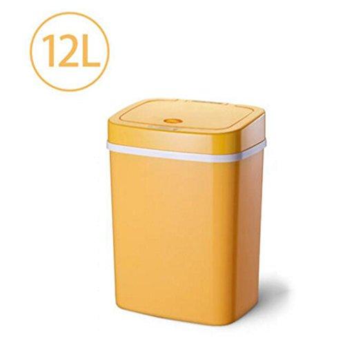 6l6j6t Poubelle Poubelle, Complètement Automatique Induction Cuisine Cuisine  Salon Chambre Poubelle En Plastique Peut 12L