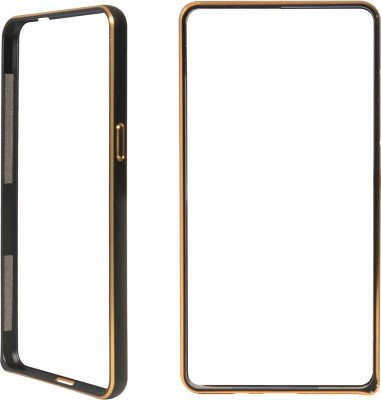 MACC Aluminium Metal Dual Gold Line Bumper Case for Sony Xperia Z - Black  available at amazon for Rs.299