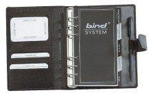 Preisvergleich Produktbild Bind - A6 Systemplaner Nappa-Leder, schwarz