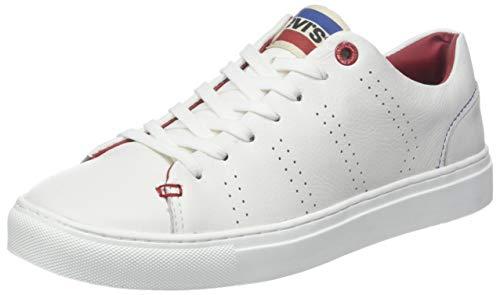 Levi's Levis Footwear and Accessories Herren Vernon Sportswear Sneaker, Weiß (Regular White 51), 43 EU - Schuhe Für Levi Männer