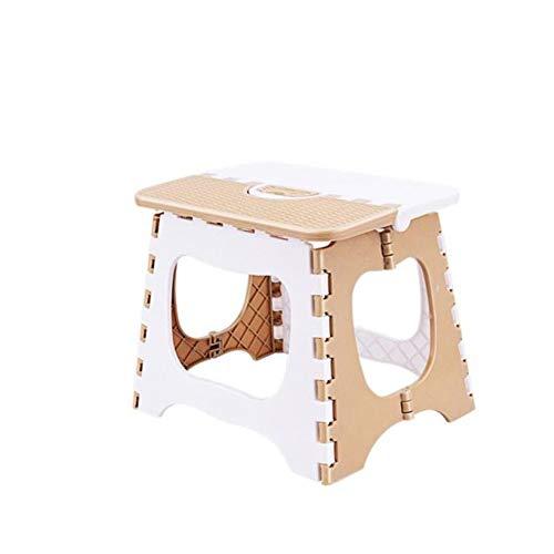 Hocker Angeln Aktivitäten tragbare kleine Bank Klapp Bad Hocker Kunststoff Esstisch Schlafzimmer wasserdicht (Color : Beige, Size : L) -