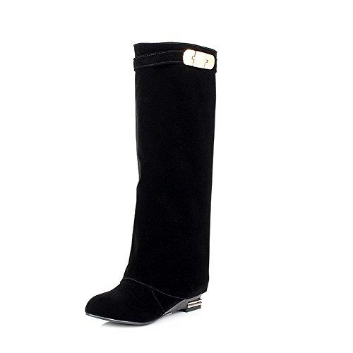 BalaMasa ,  Damen Kleid, Schwarz - schwarz - Größe: 38 (White Stiefel Furry)