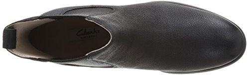 Clarks Mariella Busby, Boots femme Noir (Black Leather)