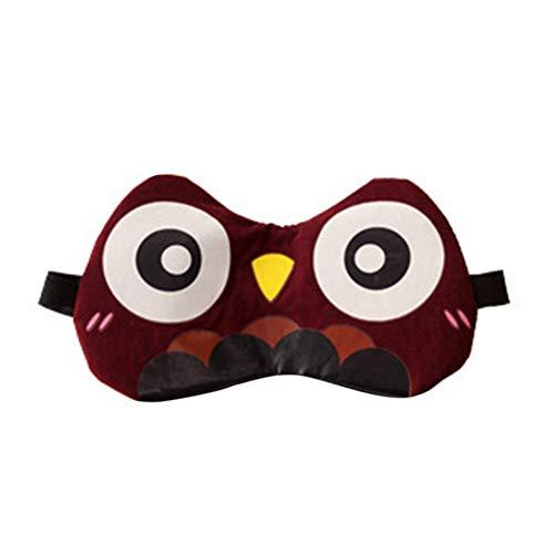Schlafmaske im Cartoon-Stil, super weiche Baumwolle, Augenbinde, bequemer Schlaf-Augenschutz mit Eisbeutel für heiße und kalte Therapie, Eule