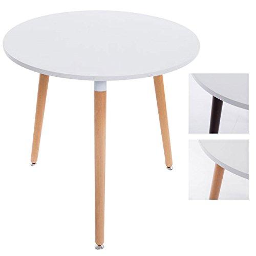CLP Design Ess-Tisch ANSGAR, Küchentisch rund Ø 80 cm, Dreibein ...
