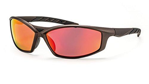 Filtral Sport-Sonnenbrille/Rot-Gold verspiegelte Sportbrille für Herren mit bruchfesten Polycarbonat Gläsern F3025309