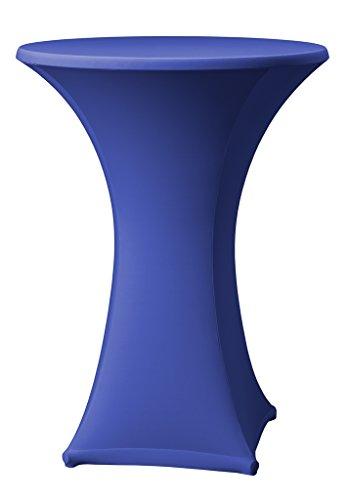 Dena 023190 Stretch Stehtischhusse Samba D1, Durchmesser 80-85 cm, blau