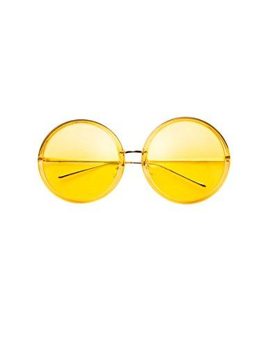 Neue große runde Sonnenbrille Weibliche Retro Trend polarisierte Sonnenbrille Weibliche transparente Farbe Sonnenbrille ( Farbe : 1 )