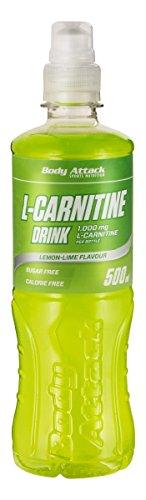 Body Attack L-Carnitine Drink, 18er Pack ( 18x 500 ml) (Lemon-Lime) (Natürliche Flüssigkeitshaushalt)