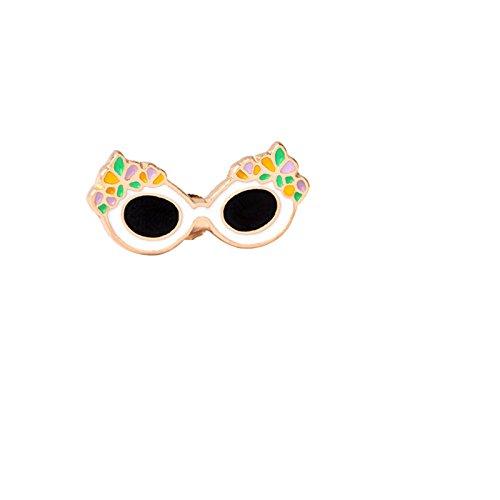 Adisaer Emaille Tasche Kragen Anstecker Brosche Damen Sonnenbrille Broschen Weiß Schwarz Mädchen 1 Stück Geschenk