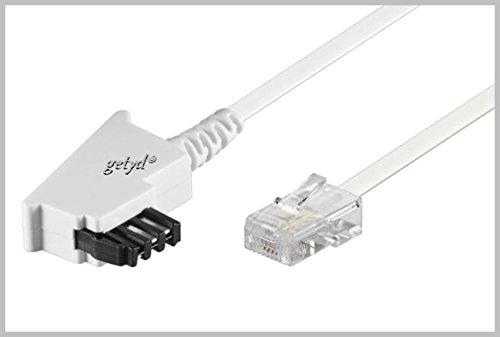 15m TAE-F RJ45 DSL Kabel - weiß - für Fritz Box o. Speedport Wlan Voip IP Anschlußkabel Fritzbox Router