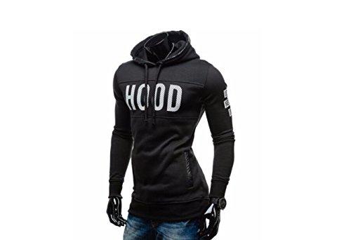 Preisvergleich Produktbild DESIGN FREUNDE Herren Hoodie Hood never des Gr. L Sweater Pullover Herrenpullover Herrenhoodie Sporthoodie Kapuzenpullover