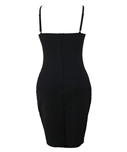 Dissa S1122782 femme Sexy Robe moulante Noir