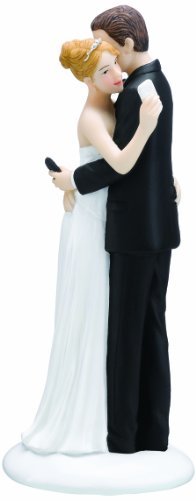Lillian Rose Texting Bride and Groom Figurine, 6.5-Inch