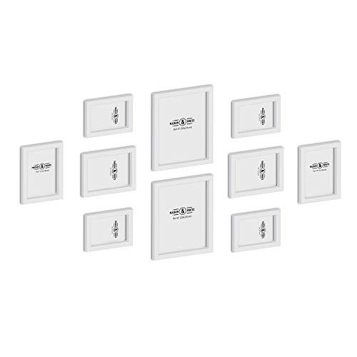 Conjunto 10 marcos cuadros colgantes | 3 tamaños: