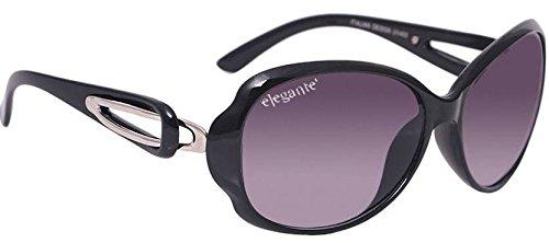 elegante\' UV protected Purple Oval Sunglasses for Women